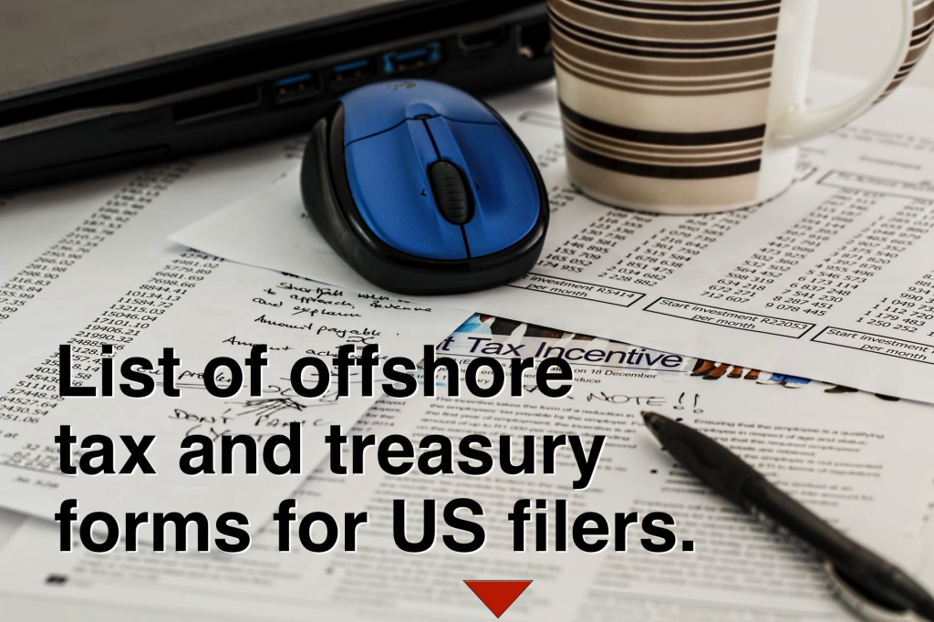 offshore tax forms